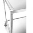 Wózek kelnerski nierdzewny 2-półkowy płaski bez uchwytów Forgast FG01012