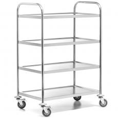 Wózek kelnerski nierdzewny 4-półkowy składany<br />model: FG01014<br />producent: Forgast