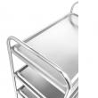 Wózek kelnerski nierdzewny 4-półkowy składany FG01014