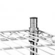 Regał magazynowy ze stali chromowanej 120x50x155 cm składany  - FG15245