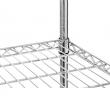 Regał magazynowy ze stali chromowanej 150x50x155 cm składany - FG15545