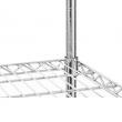 Regał magazynowy ze stali chromowanej 150x60x155 cm składany - FG15660