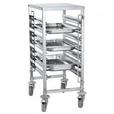 Wózek nierdzewny składany do tac i pojemników - na 7 GN1/1<br />model: FG01104<br />producent: Forgast