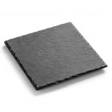 Płyta do prezentacji dań fingerfood z łupku 20x20 cm<br />model: FG03225<br />producent: Forgast