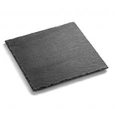Płyta do prezentacji dań fingerfood z łupku 30x30 cm<br />model: FG03335<br />producent: Forgast