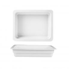 Pojemnik GN 2/3, gł. 6,5 cm porcelanowy biały<br />model: 783061<br />producent: Fine Dine