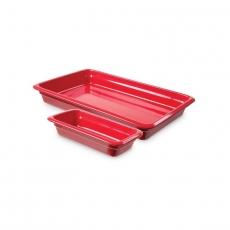 Pojemnik GN 2/3, gł. 6,5 cm porcelanowy czerwony<br />model: 783283<br />producent: Fine Dine