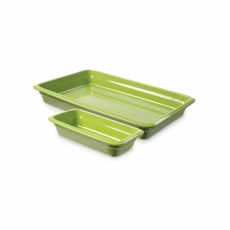 Pojemnik GN 2/3, gł. 6,5 cm porcelanowy zielony<br />model: 783337<br />producent: Fine Dine