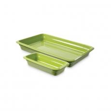 Pojemnik GN 1/2, gł. 6,5 cm porcelanowy zielony<br />model: 783252<br />producent: Fine Dine