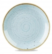 Talerz porcelanowy płytki Duck Egg Blue śr. 21,7 cm  - SDESEVP81