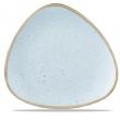 Talerz porcelanowy trójkątny Duck Egg Blue śr. 26.5 cm - SDESTR101