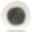 Talerz płytki porcelanowy Raku Quartz Black śr. 28.6 cm RKBQOG111