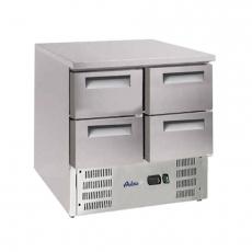 Stół chłodniczy z szufladami z agregatem na dole<br />model: 236154<br />producent: Arktic