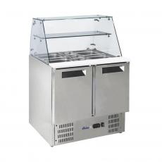 Stół chłodniczy 2-drzwiowy sałatkowy z nadstawą szklaną<br />model: 236185<br />producent: Arktic