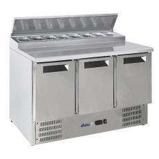 Stół chłodniczy 3-drzwiowy sałatkowy z nadstawą<br />model: 236239<br />producent: Arktic