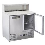 Stół chłodniczy 2-drzwiowy sałatkowy z nadstawą nierdzewn - 236208