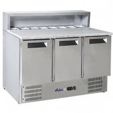 Stół chłodniczy 3-drzwiowy do pizzy z nadstawą nierdzewną<br />model: 236215<br />producent: Arktic
