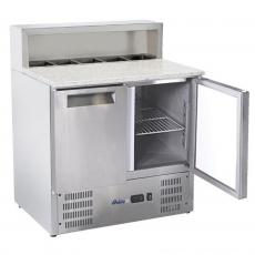 Stół chłodniczy 2-drzwiowy do pizzy z nadstawą nierdzewną<br />model: 236208<br />producent: Arktic