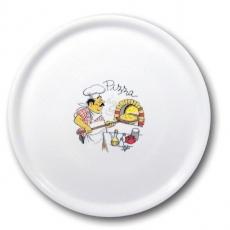 Talerz do pizzy porcelanowy dekorowany śr. 33 cm Speciale<br />model: 774892<br />producent: Fine Dine