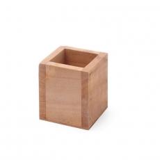 Pojemnik na sztućce drewniany 8x8x9.5 cm<br />model: 664186<br />producent: Hendi
