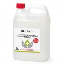 Płyn antywirusowy do dezynfekcji skóry rąk 5 L<br />model: 237304<br />producent: Hendi