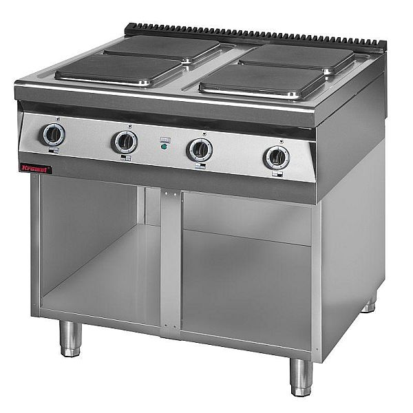 Kuchnia gastronomiczna elektryczna 4 płytowa 900 KE 4 -> Kuchnia Elektryczna Z Piekarnikiem Gastronomiczna