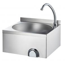 Umywalka bezdotykowa włącznikiem kolanowym<br />model: 610004<br />producent: Stalgast