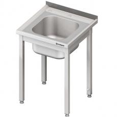 Stół ze zlewem nierdzewny składany<br />model: 983806060/E1<br />producent: Stalgast