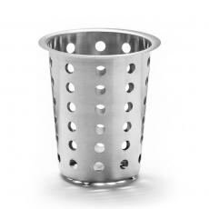 Wkład, kubek na sztućce ze stali nierdzewnej 9,5x13 cm<br />model: FG00304<br />producent: Forgast