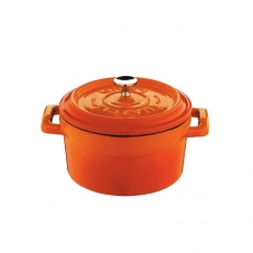 Mini garnek żeliwny finger food 500 ml pomarańczowy<br />model: 832134<br />producent: LAVA