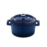 Mini garnek żeliwny finger food 500 ml niebieski - 832035