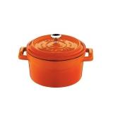 Mini garnek żeliwny finger food 350 ml pomarańczowy  - 832127