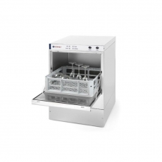 Zmywarka gastronomiczna do szkła z dozownikiem detergentu i pompą spustową<br />model: 233023<br />producent: Hendi