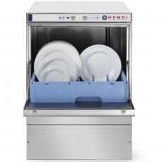 Zmywarka gastronomiczna z dozownikiem detergentu i pompą spustową<br />model: 233054<br />producent: Hendi