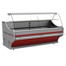 Lada chłodnicza z szybą giętą WEGA<br />model: WCh-6/1B/750/1100<br />producent: Cebea