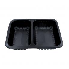 Pojemniki obiadowe do dań na wynos 2-komorowe 22,7x17,8x4 cm - 320 szt.<br />model: D-9510RC<br />producent: Gullin