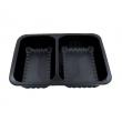 Pojemniki obiadowe do dań na wynos 2-komorowe 22,7x17,8x5 cm - 320 szt. D-9500RC