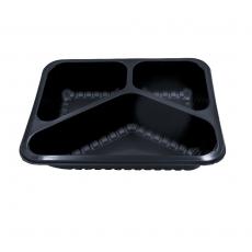 Pojemniki obiadowe do dań na wynos 3-komorowe 22,7x17,8x5 cm - 320 szt.<br />model: D-9420RC<br />producent: Gullin