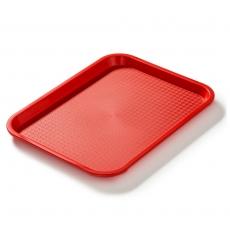 Taca fast food czerwona wym. 35x25 cm<br />model: FG12501<br />producent: Forgast