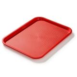 Taca fast food czerwona wym. 40x30 cm /- FG12521