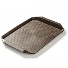 Taca z polipropylenu brązowa wym. 43x30,5 cm<br />model: FG12530<br />producent: Forgast