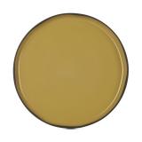 Talerz porcelanowy płytki Caractere kurkuma śr. 21cm - RV-652803-4