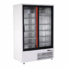 Szafa chłodnicza przeszklona przyścienna nierdzewna<br />model: SCh-S 1200 2N<br />producent: Rapa