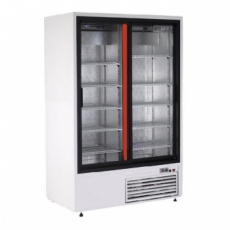 Szafa chłodnicza przeszklona przyścienna nierdzewna<br />model: SCh-S 1400 2N/W<br />producent: Rapa