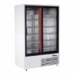 Szafa chłodnicza 2-drzwiowa przeszklona przyścienna nierdzewna Sch-SR 1200 2N/W