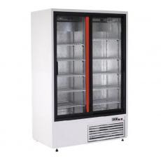Szafa chłodnicza przeszklona przyścienna nierdzewna<br />model: SCh-SR 1400 2N/W<br />producent: Rapa