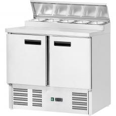 Stół chłodniczy 2-drzwiowy z nastawką<br />model: 842328<br />producent: Stalgast
