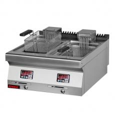 Frytownica elektryczna 2-komorowa - poj. 2x10l | KROMET 700.FE-2x10f<br />model: 700.FE-2x10f<br />producent: Kromet