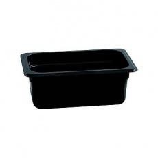 Pojemnik GN 1/4  gł. 6,5 cm z czarnego poliwęglanu<br />model: 154060<br />producent: Stalgast