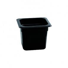 Pojemnik GN 1/6  gł. 10 cm z czarnego poliwęglanu<br />model: 156100<br />producent: Stalgast
